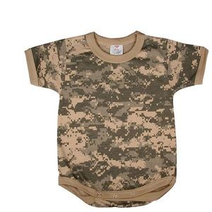 Army Digital Camouflage Infant Romper