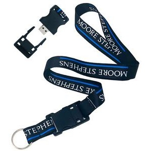 "Dye-Sublimated Detachable 3/4"" Lanyard with USB Flash Drive"